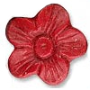 Cinnabar Beads, Carved, Flower, 13x13mm, Sold by PC