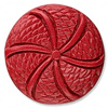 Cinnabar Beads, Carved Coin, 27x8mm, Sold by PC