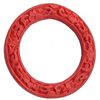 Cinnabar Beads, Carved, Donut, 37x37x6mm, Inner Diameter: 25mm, Sold by PC