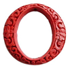 Cinnabar Beads, Carved, Donut, 50x48x10mm, Inner Diameter: 40x28mm, Sold by PC