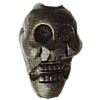 Cinnabar Beads, Carved, Skull, 38x23mm, Sold by PC