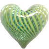 Lampwork Blown Vessels Beads, Heart, 28x28x17mm, Sold by PC
