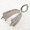 Copper Pendant Bail Pb-free 9x7x4mm, Sold by Bag