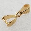Copper Pendant Bail Pb-free 8x7x3mm, Sold by Bag