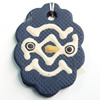 Handmade Pottery Clay Pendant, 29x41mm, Sold by PC