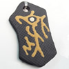 Handmade Pottery Clay Pendant, 25x44mm, Sold by PC