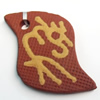 Handmade Pottery Clay Pendant, 39x33mm, Sold by PC