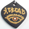 Handmade Pottery Clay Pendant, Diamond, 36x40mm, Sold by PC