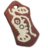 Handmade Pottery Clay Pendant, 24x43mm, Sold by PC