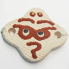 Handmade Pottery Clay Connector, 33x28mm, Sold by PC