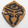Handmade Pottery Clay Connector, 26x29mm, Sold by PC