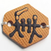Handmade Pottery Clay Connector, 28x26mm, Sold by PC