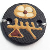 Handmade Pottery Clay Connector, 26mm, Sold by PC