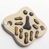 Handmade Pottery Clay Connector, 32x28mm, Sold by PC