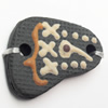 Handmade Pottery Clay Connector, 31x22mm, Sold by PC