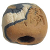 Handmade Pottery Clay Beads, About:14mm Hole:Approx 4mm, Sold by Bag