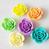 Mix Color, Resin Cabochons, NO Hole Headwear & Costume Accessory, Flower 33mm, Sold by Group
