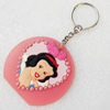 Plastic Jewelry Little Charm, PVC material, DMF free, 60x55mm, Sold by PC