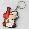 Plastic Jewelry Little Charm, PVC material, DMF free, 44x58mm, Sold by PC