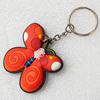 Plastic Jewelry Little Charm, PVC material, DMF free, Butterfly, 45x46mm, Sold by PC