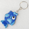 Plastic Jewelry Little Charm, PVC material, DMF free, Fish, 40x53mm, Sold by PC