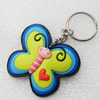 Plastic Jewelry Little Charm, PVC material, DMF free, Butterfly, 50x43mm, Sold by PC