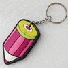 Plastic Jewelry Little Charm, PVC material, DMF free, 30x55mm, Sold by PC
