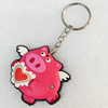 Plastic Jewelry Little Charm, PVC material, DMF free, 52x40mm, Sold by PC