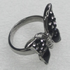 Stainless Steel Ring, Butterfly 25x20mm, Sold by PC