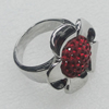 Stainless Steel Ring, Flower 22mm, Sold by PC