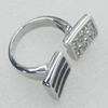 Stainless Steel Ring, 28x11mm, Sold by PC
