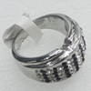 Stainless Steel Ring, 14mm, Sold by PC
