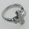 Stainless Steel Ring, 17mm, Sold by PC