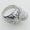 Stainless Steel Ring, 19mm, Sold by PC