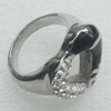 Stainless Steel Ring, Heart 18mm, Sold by PC