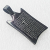 Stainless Steel Pendant, Rectangle 19x31mm, Sold by PC