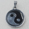 Stainless Steel Pendant, Flat Round 25x30mm, Sold by PC