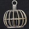 Jewelry Hollow Pendant, Iron Cage, 39x47mm, Sold by PC