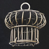 Jewelry Hollow Pendant, Iron Cage, 38x44mm, Sold by PC