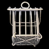 Jewelry Hollow Pendant, Iron Cage, 35x46mm, Sold by PC