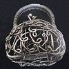 Jewelry Hollow Pendant, Iron Cage, 41x48mm, Sold by PC