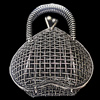 Jewelry Hollow Pendant, Iron Cage, 41x51mm, Sold by PC