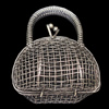 Jewelry Hollow Pendant, Iron Cage, 42x50mm, Sold by PC