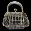 Jewelry Hollow Pendant, Iron Cage, 42x51mm, Sold by PC