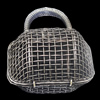 Jewelry Hollow Pendant, Iron Cage, 41x52mm, Sold by PC