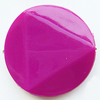 Solid Acrylic Beads, Twist Flat Round 26mm Hole:1mm, Sold by Bag