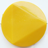 Solid Acrylic Beads, Twist Flat Round 35mm Hole:1mm, Sold by Bag