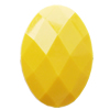 Solid Acrylic Beads, Faceted Oval 32x23mm Hole:2mm, Sold by Bag