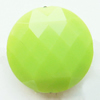 Solid Acrylic Beads, Faceted Round 18mm Hole:2mm, Sold by Bag