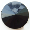 Solid Acrylic Beads, Faceted Flat Round 25x25x9mm Hole:1mm, Sold by Bag